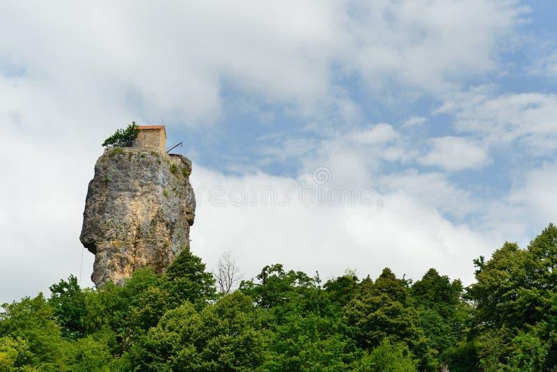 Γεωργία, στυλοβάτης Katskhi στοκ εικόνες