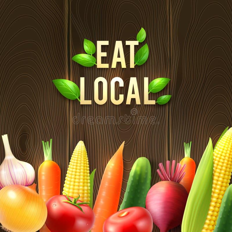Γεωργική αφίσα λαχανικών Eco ελεύθερη απεικόνιση δικαιώματος