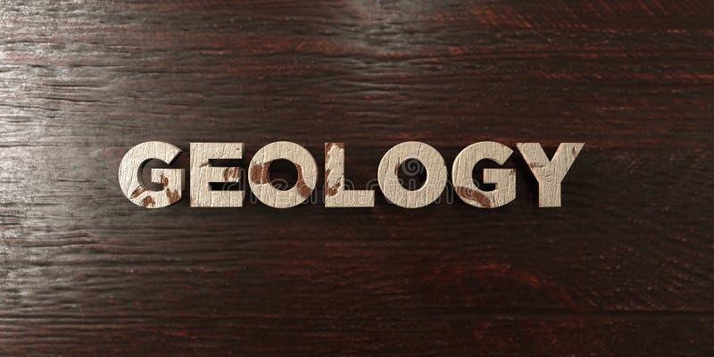 Γεωλογία - βρώμικος ξύλινος τίτλος στο σφένδαμνο - τρισδιάστατο δικαίωμα ελεύθερη εικόνα αποθεμάτων διανυσματική απεικόνιση