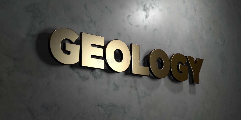 Γεωλογία - χρυσό σημάδι που τοποθετείται στο στιλπνό μαρμάρινο τοίχο - τρισδιάστατο δικαίωμα ελεύθερη απεικόνιση αποθεμάτων ελεύθερη απεικόνιση δικαιώματος