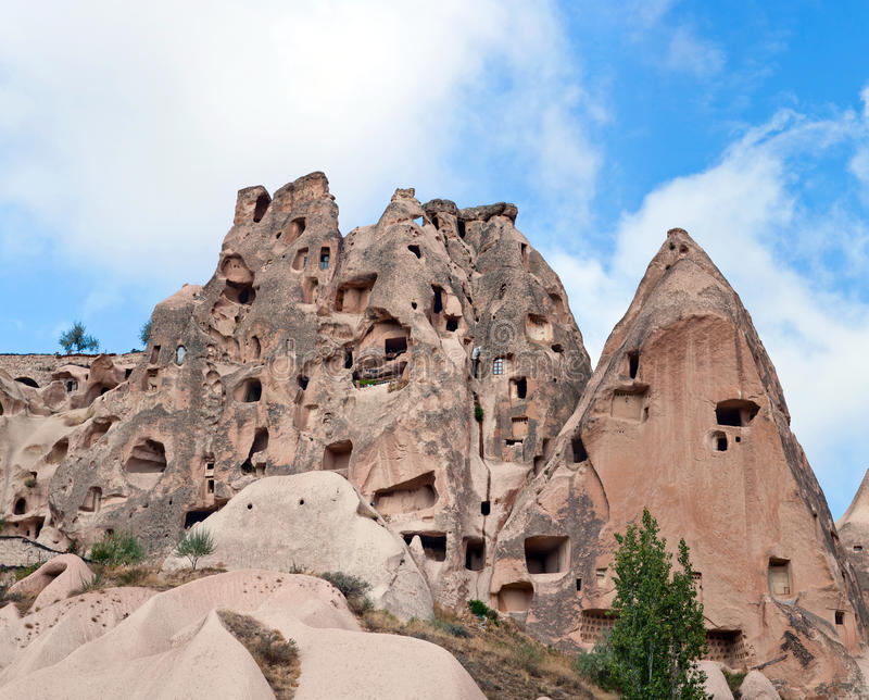 Γεωλογικοί σχηματισμοί σε Cappadocia, Τουρκία στοκ εικόνα με δικαίωμα ελεύθερης χρήσης