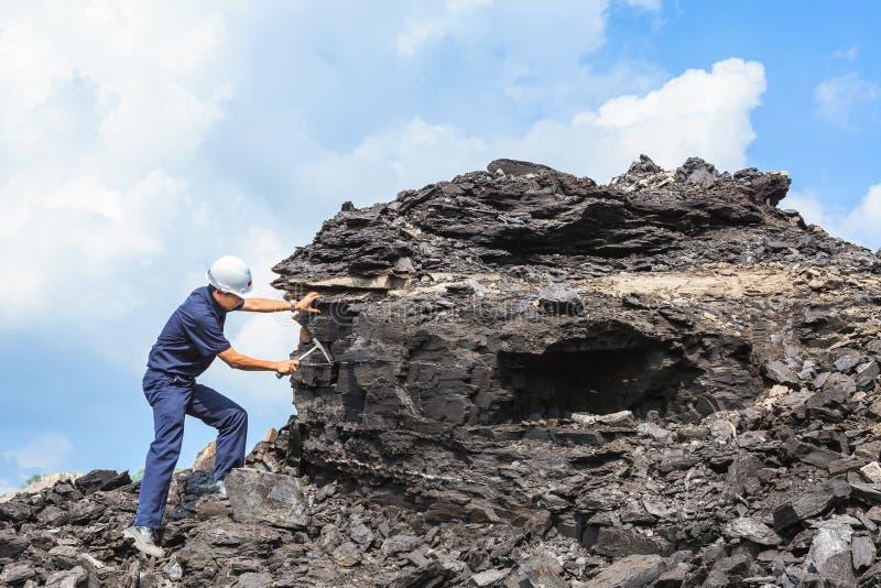 Γεωλόγος άνθρακα στοκ φωτογραφίες