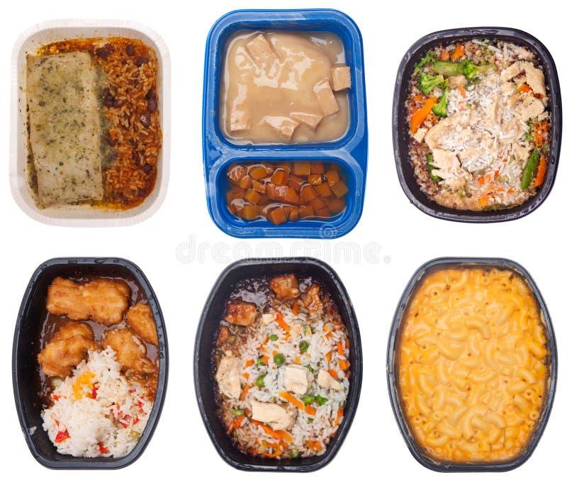 γεύματα έξι TV συλλογής στοκ φωτογραφία με δικαίωμα ελεύθερης χρήσης