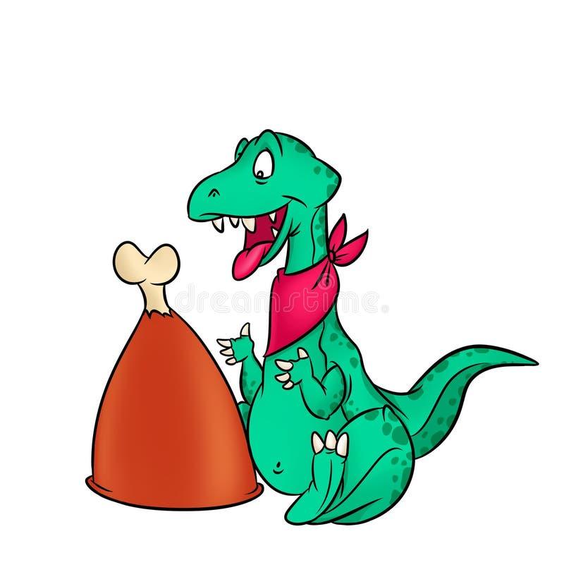 Γεύμα δεινοσαύρων διανυσματική απεικόνιση