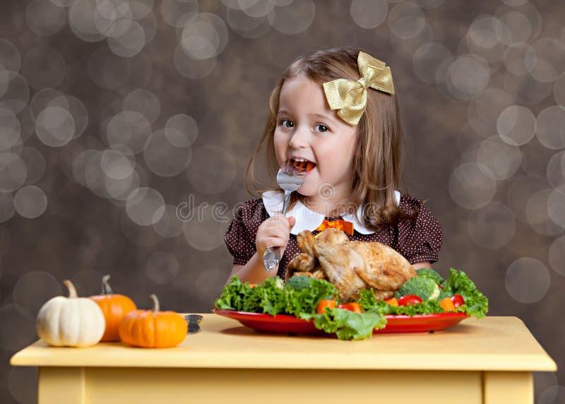 Γεύμα ημέρας των ευχαριστιών στοκ εικόνες