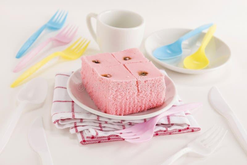 Γεύμα κέικ Sali χρώματος στοκ εικόνα