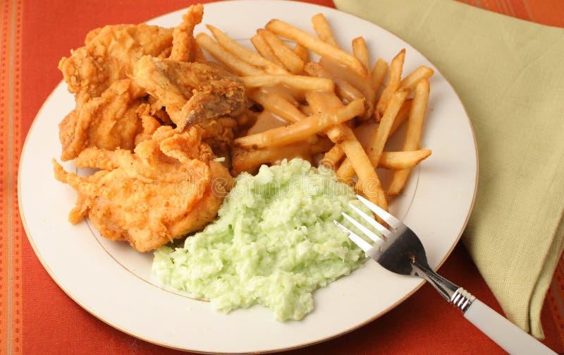 γεύμα κοτόπουλου που τ&e στοκ φωτογραφία