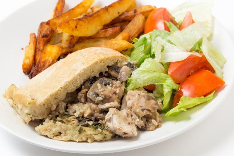 Γεύμα πουτίγκας μανιταριών κοτόπουλου στοκ φωτογραφίες με δικαίωμα ελεύθερης χρήσης