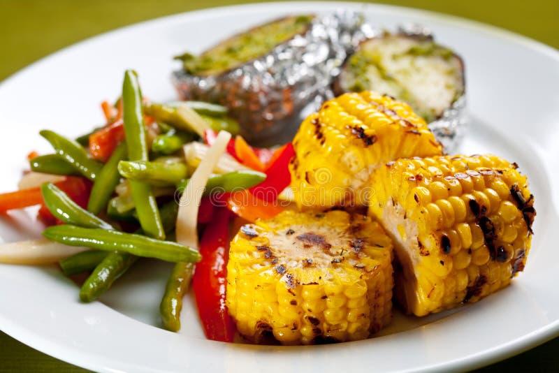 γεύμα σχαρών καλαμποκιού στοκ φωτογραφίες