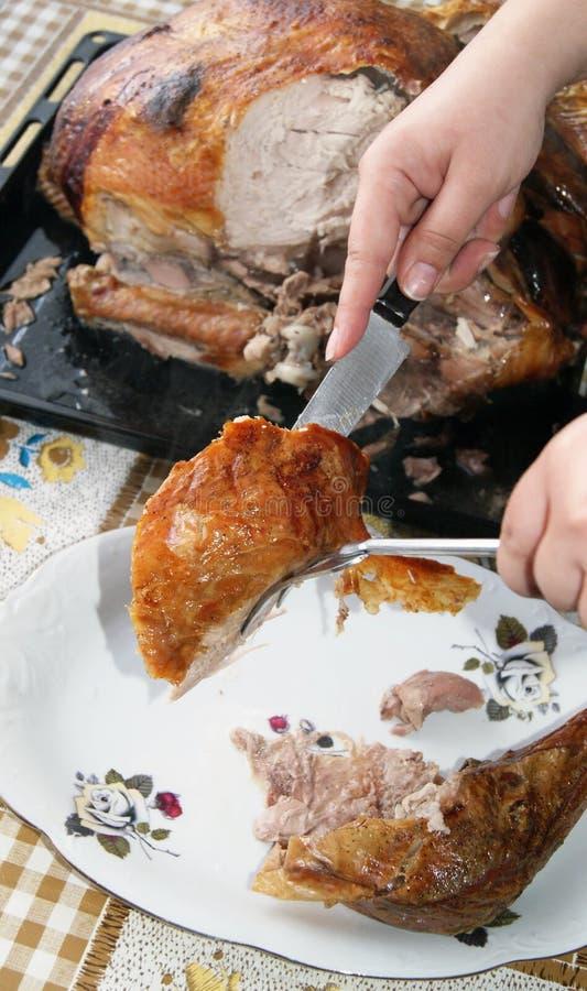 γεύμα Τουρκία Χριστουγέ&nu Στοκ Εικόνα