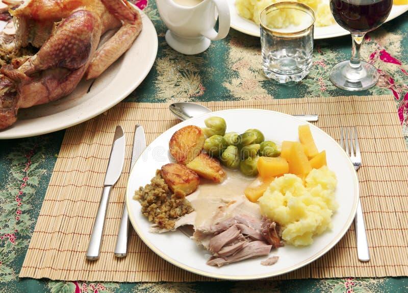γεύμα Χριστουγέννων οριζό στοκ φωτογραφίες με δικαίωμα ελεύθερης χρήσης