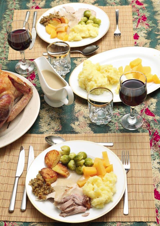 γεύμα Χριστουγέννων παρα&del στοκ εικόνες