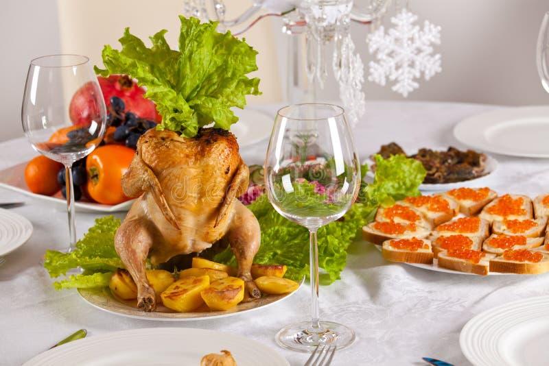Γεύμα Χριστουγέννων στοκ εικόνα