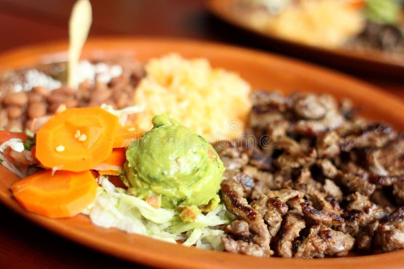 Γεύμα asada Carne στοκ φωτογραφία με δικαίωμα ελεύθερης χρήσης