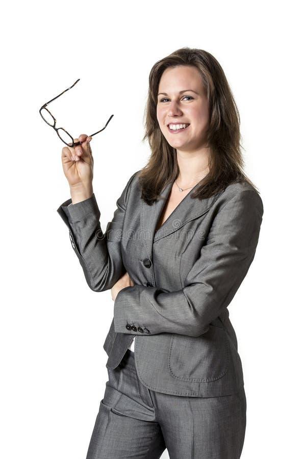 Γελώντας επιχειρησιακή γυναίκα στοκ εικόνες