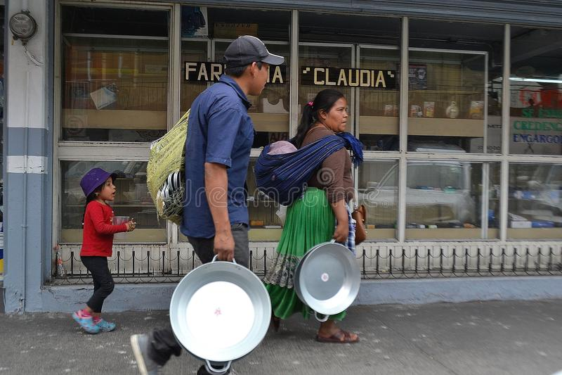 Γηγενής οικογένεια Γουαδαλαχάρα Μεξικό στοκ εικόνες