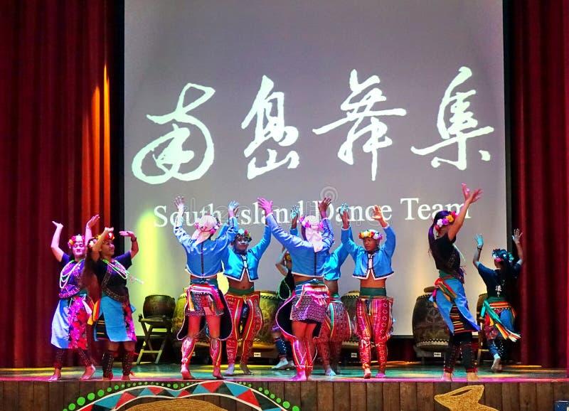 Γηγενείς χορευτές της Ταϊβάν στοκ εικόνες