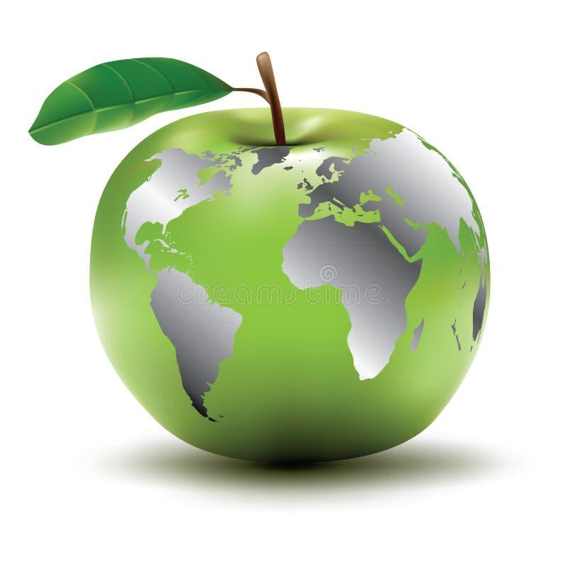 γη έννοιας μήλων διανυσματική απεικόνιση