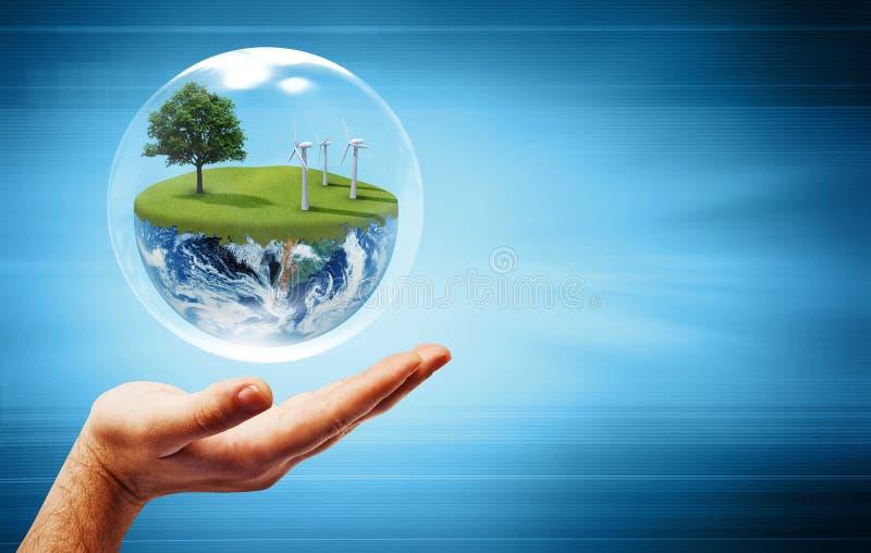 γη έννοιας πράσινη ελεύθερη απεικόνιση δικαιώματος