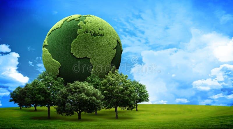 γη έννοιας πράσινη διανυσματική απεικόνιση