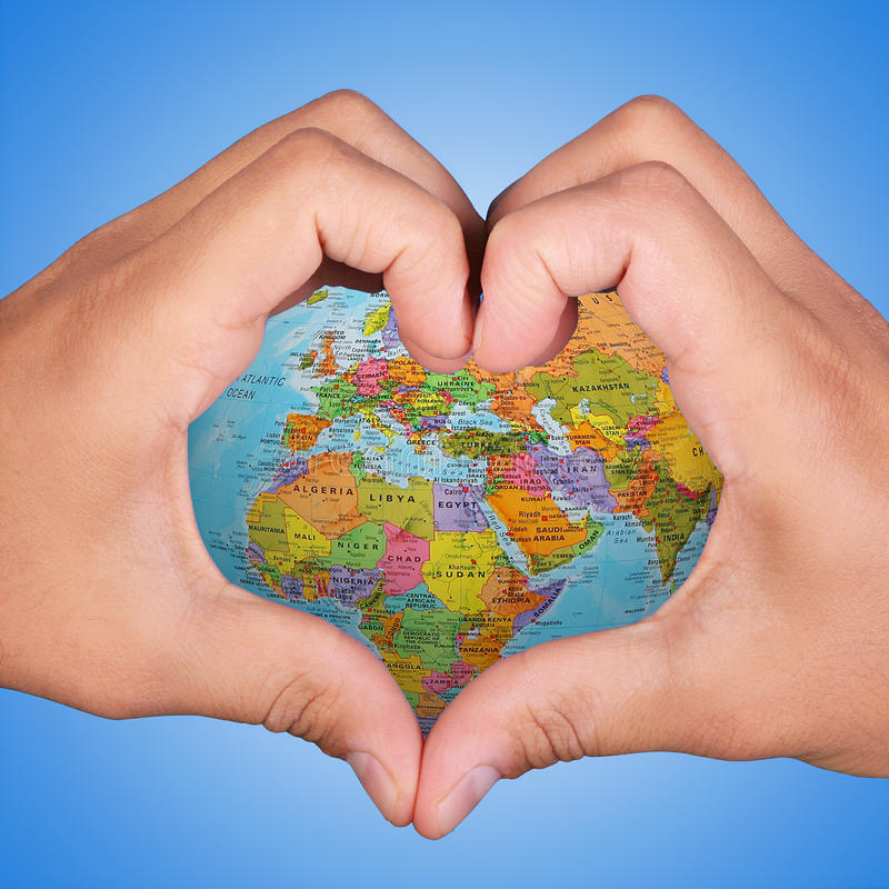 Γη αγάπης στοκ εικόνα