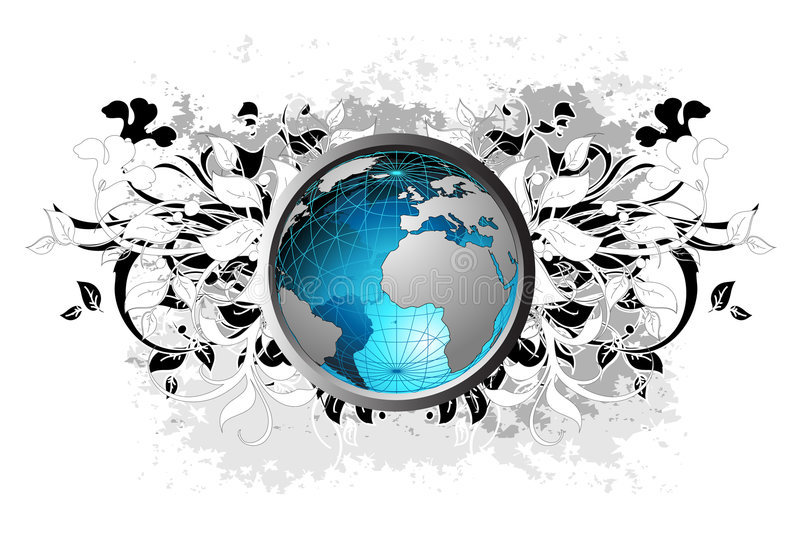 γη ανασκόπησης floral απεικόνιση αποθεμάτων