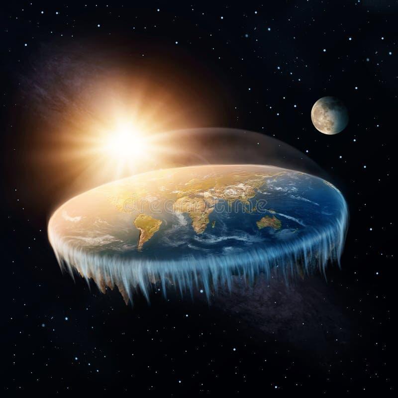 γη επίπεδη διανυσματική απεικόνιση