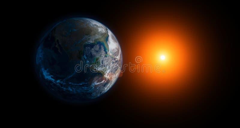 Γη και ήλιος στοκ εικόνες