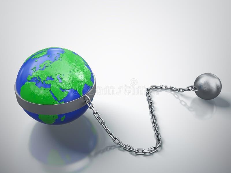 γη που παγιδεύεται απεικόνιση αποθεμάτων
