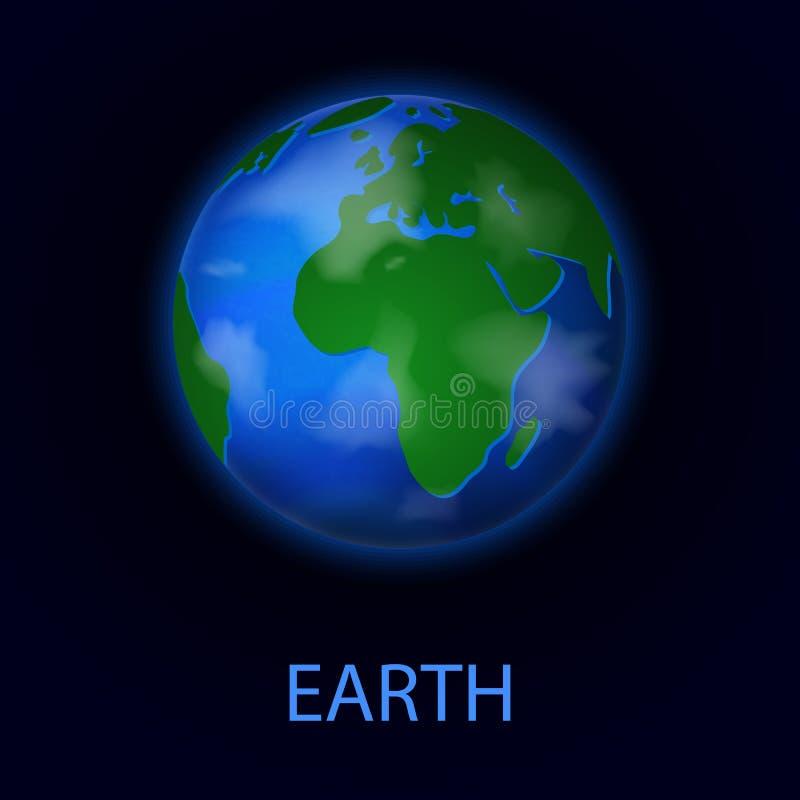 Γη Ρεαλιστικός πλανήτης του ηλιακού συστήματος απεικόνιση αποθεμάτων
