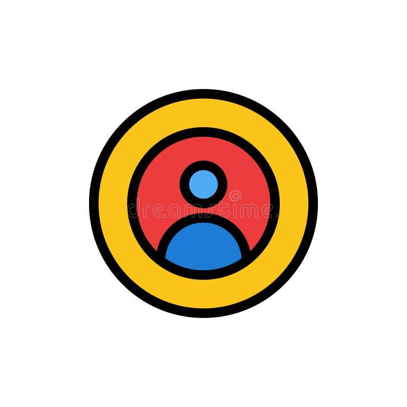 Γη, σφαιρική, άνθρωποι, χρήστης, εικονίδιο παγκόσμιου επίπεδο χρώματος Διανυσματικό πρότυπο εμβλημάτων εικονιδίων διανυσματική απεικόνιση