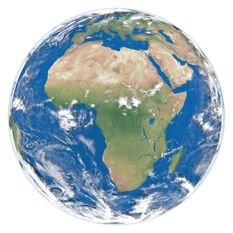 γη της Αφρικής που αντιμετωπίζει το μοντέλο διανυσματική απεικόνιση