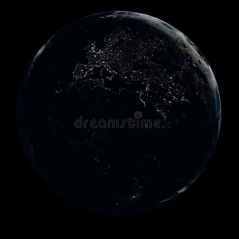 Γη τη νύχτα απεικόνιση αποθεμάτων