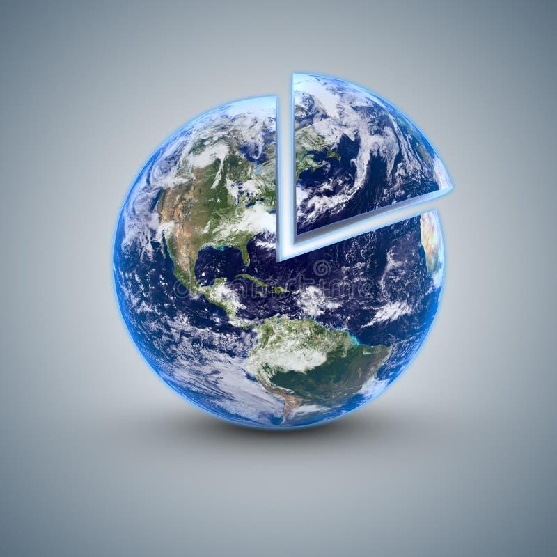 Γη 80 τοις εκατό διανυσματική απεικόνιση