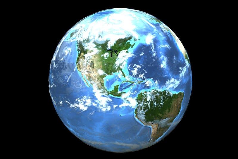 Γη (τρισδιάστατη) διανυσματική απεικόνιση