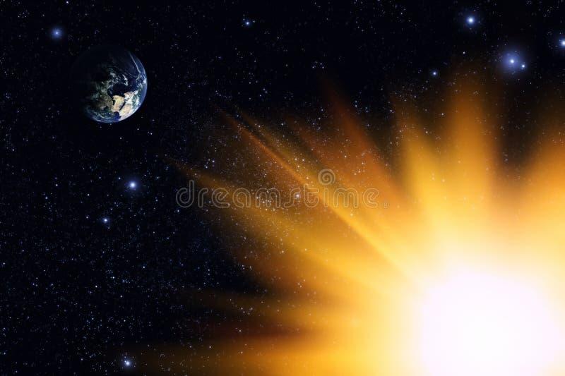 Download γη στοκ εικόνα. εικόνα από φλόγα, λαμπρός, σύννεφο, ανακάλυψη - 13187209