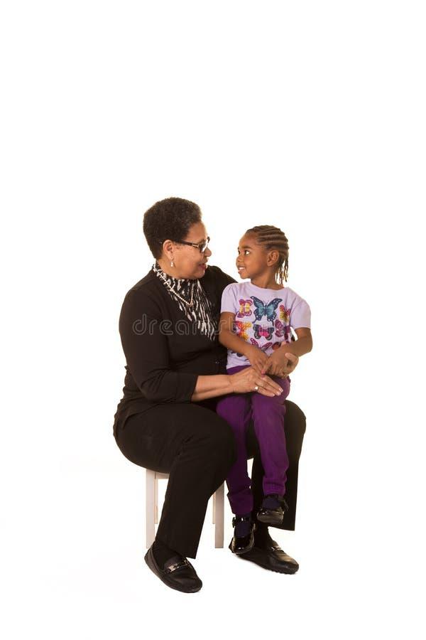Γιαγιά και εγγονή στοκ φωτογραφίες