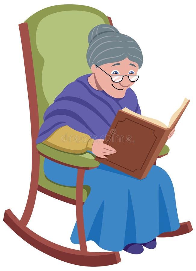 Γιαγιά στο λευκό ελεύθερη απεικόνιση δικαιώματος