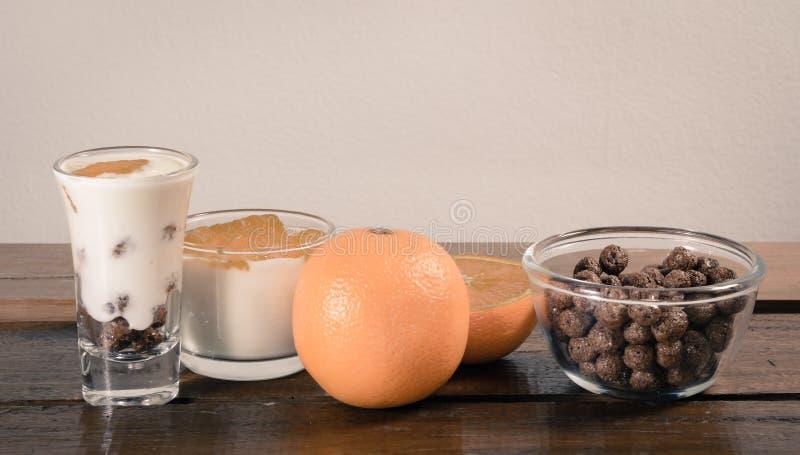 Γιαούρτι και δημητριακά στοκ φωτογραφία με δικαίωμα ελεύθερης χρήσης