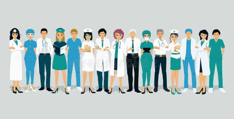 Γιατροί και νοσοκόμες ελεύθερη απεικόνιση δικαιώματος