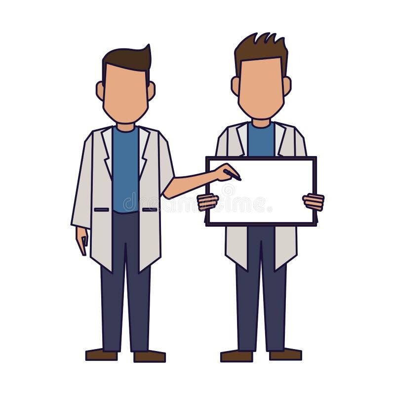 Γιατροί με το κενό σημάδι ελεύθερη απεικόνιση δικαιώματος