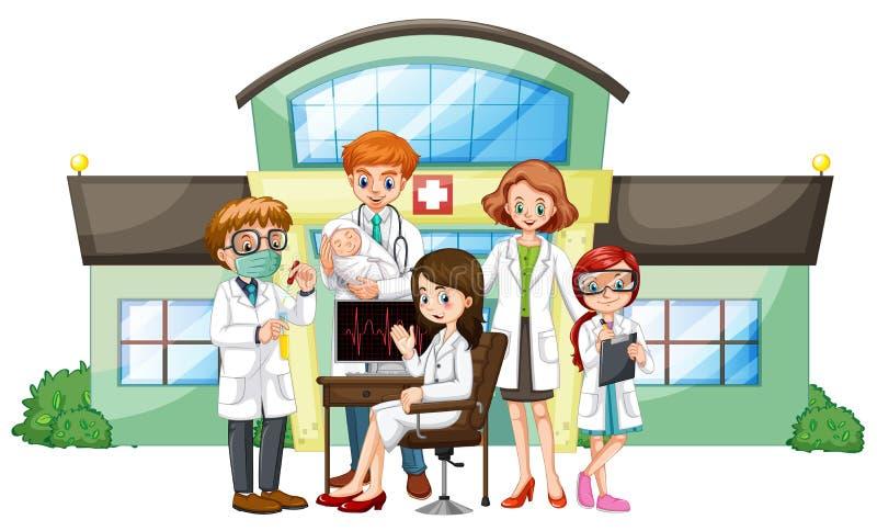 Γιατροί που εργάζονται στο νοσοκομείο ελεύθερη απεικόνιση δικαιώματος