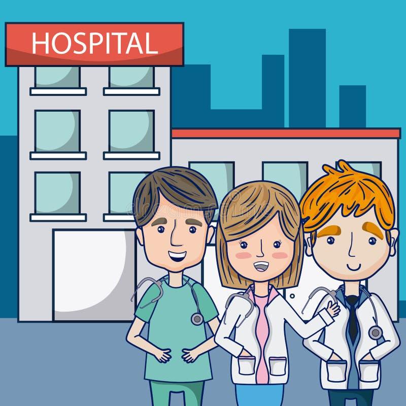Γιατροί στο νοσοκομείο ελεύθερη απεικόνιση δικαιώματος