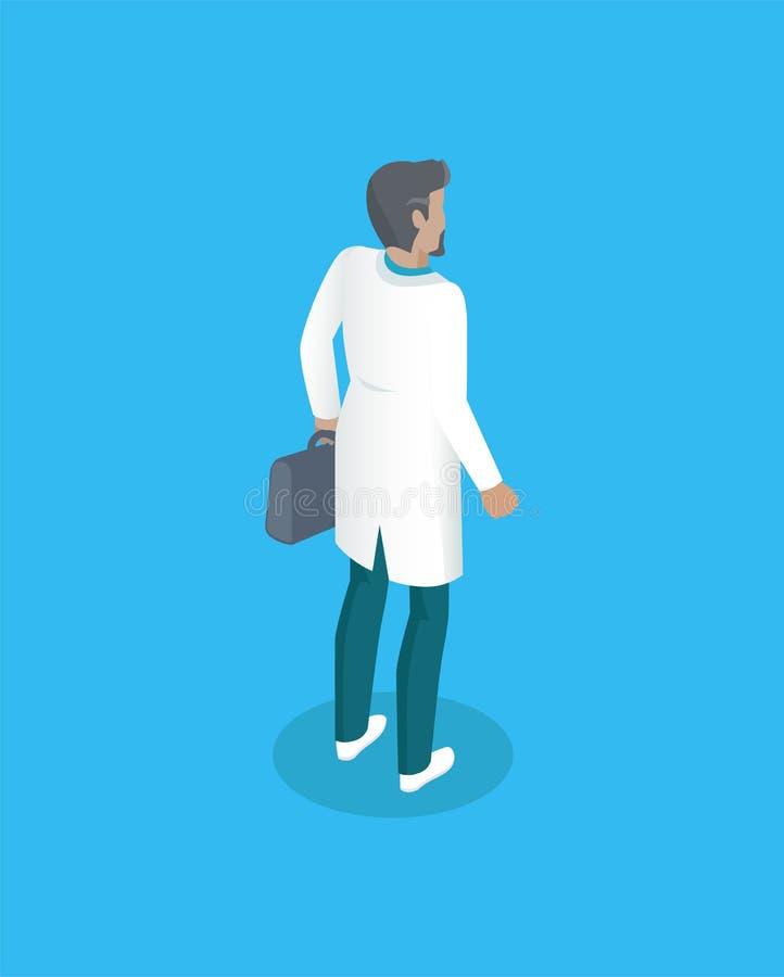 Γιατρός ή ρεαλιστικό εικονίδιο προβολής Ambulanceman ελεύθερη απεικόνιση δικαιώματος