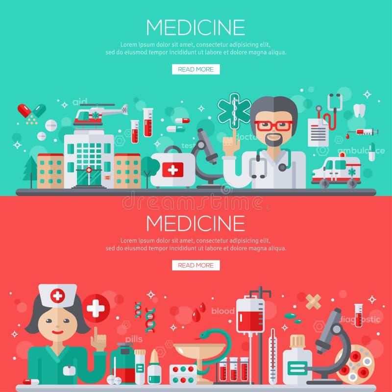 Γιατρός και νοσοκόμα με τα ιατρικά εφόδια ελεύθερη απεικόνιση δικαιώματος