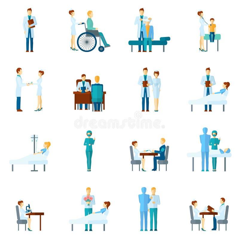 Γιατρός και νοσοκόμες καθορισμένοι ελεύθερη απεικόνιση δικαιώματος