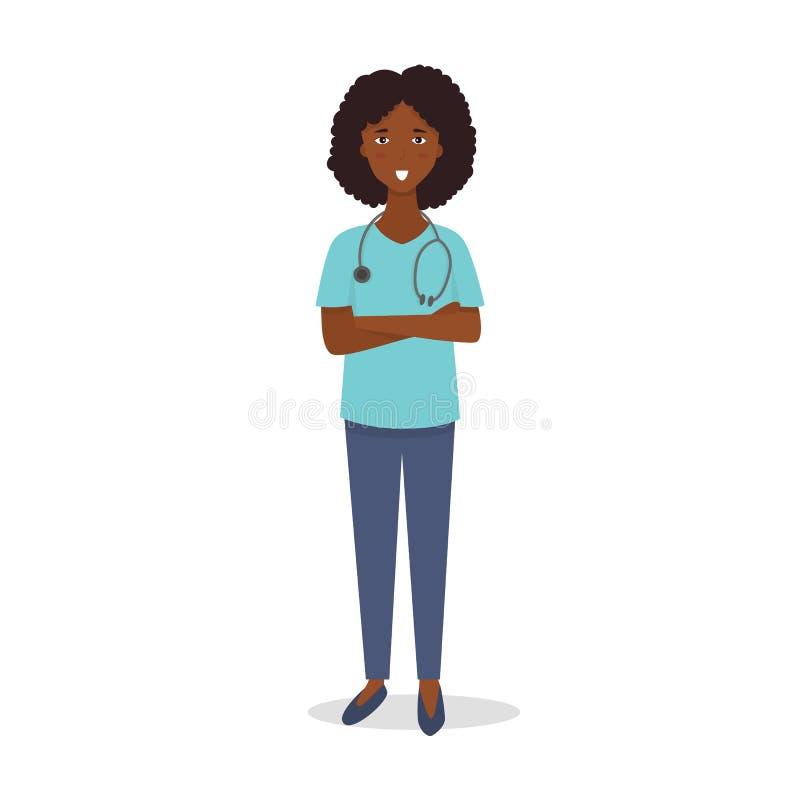 Γιατρός νοσοκόμα ιατρικό προσωπικό Έννοια ιατρικής ομάδας Επίπεδος χαρακτήρας ανθρώπων σχεδίου διάνυσμα διανυσματική απεικόνιση