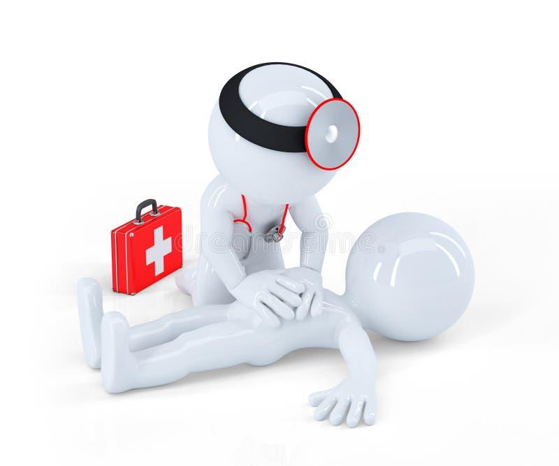 Γιατρός που παρέχει τις πρώτες βοήθειες απεικόνιση αποθεμάτων