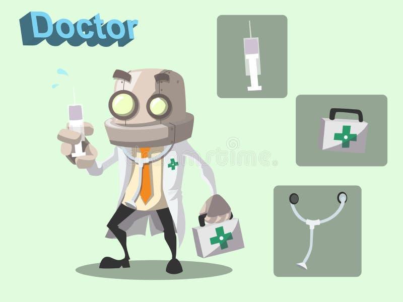 Γιατρός ρομπότ διανυσματική απεικόνιση