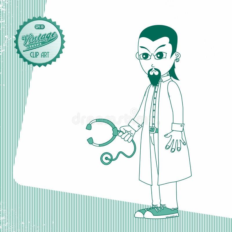 Download Γιατρός χαρακτήρα κινουμένων σχεδίων Διανυσματική απεικόνιση - εικονογραφία από χειρονομία, χαριτωμένος: 62712872